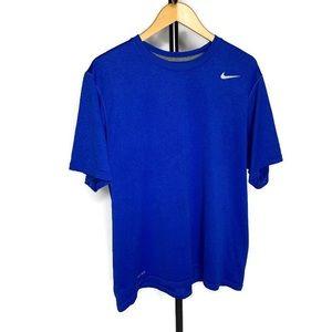 Nike Dri Fit Blue Short Sleeve Tee Shirt